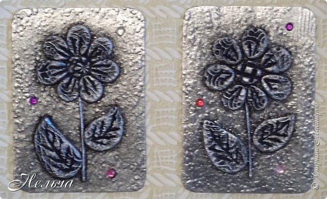 """АТС мини - серия """" Драгоценный цветок"""" в технике пейп-арт Татьяны Сорокиной. Вся серия ушла на погашение долгов. фото 5"""