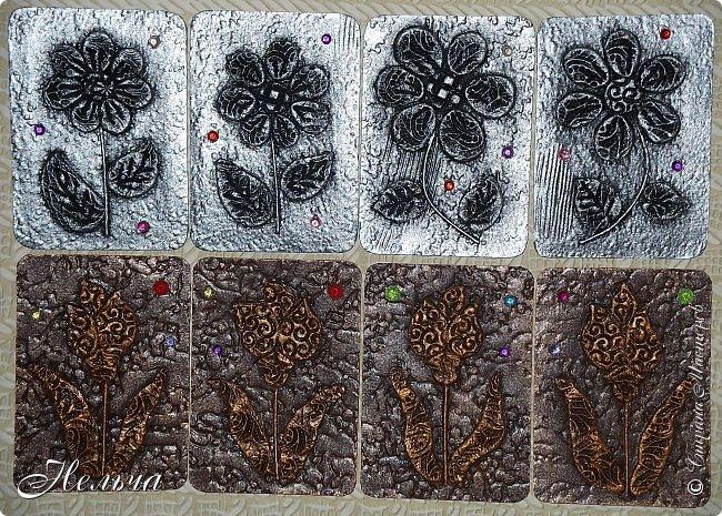 """АТС мини - серия """" Драгоценный цветок"""" в технике пейп-арт Татьяны Сорокиной. Вся серия ушла на погашение долгов. фото 4"""