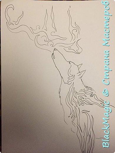 Волкособ. Помесь собаки и волка. Вот что будет если прочитав новости врубить Металлику и сесть рисовать. фото 4