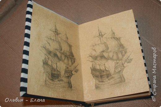 всем добрый вечер или день! Кристина закончила очередную книжку , записки моряка , так назвала и я решила выставить её и несколько других работ фото 2