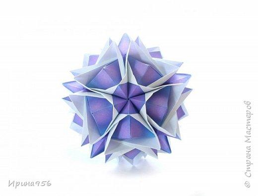 Blutenball Автор - Rocky Jardes МК - http://stranamasterov.ru/node/304673 30 модулей 7,5 х 7,5 см. Размер - около 9 см. фото 1