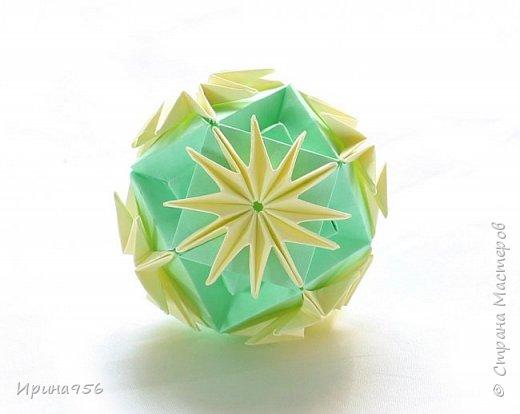 Blutenball Автор - Rocky Jardes МК - http://stranamasterov.ru/node/304673 30 модулей 7,5 х 7,5 см. Размер - около 9 см. фото 18