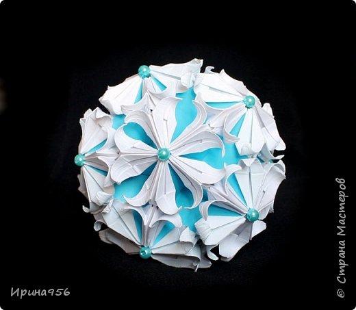 Blutenball Автор - Rocky Jardes МК - http://stranamasterov.ru/node/304673 30 модулей 7,5 х 7,5 см. Размер - около 9 см. фото 8
