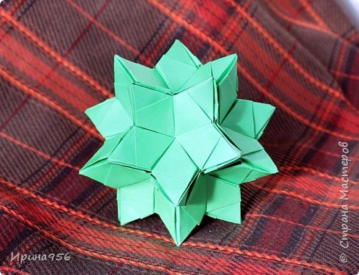 Blutenball Автор - Rocky Jardes МК - http://stranamasterov.ru/node/304673 30 модулей 7,5 х 7,5 см. Размер - около 9 см. фото 16