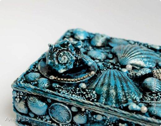 Увлеклась изготовлением шкатулок. Любимая - морская тематика. фото 3