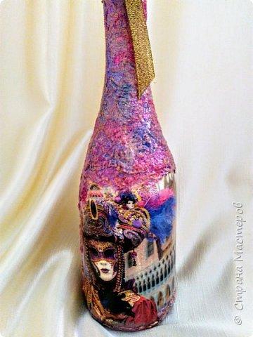 Бутылочка в духе буйства красок Венецианского карнавала фото 1