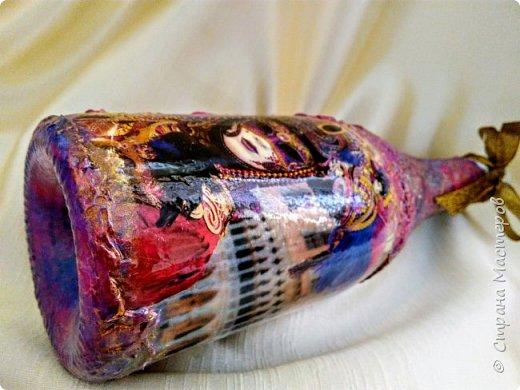Бутылочка в духе буйства красок Венецианского карнавала фото 3