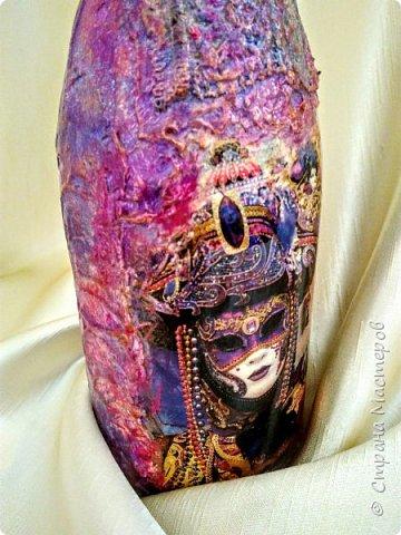 Бутылочка в духе буйства красок Венецианского карнавала фото 5