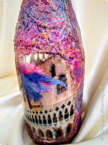 Бутылочка в духе буйства красок Венецианского карнавала фото 7