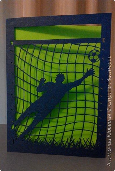 Всем добрый день! Вашему вниманию новая открытка. Сделана в подарок для брата - спортсмена и большого любителя футбола.  -Размер 12х16см. (как всегда) фото 9