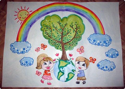 """Плакат к акции """"Наш лес. Посади свое дерево"""" в г.Электрогорск. Гуашь. 2 формата А1. фото 1"""