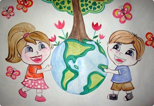 """Плакат к акции """"Наш лес. Посади свое дерево"""" в г.Электрогорск. Гуашь. 2 формата А1. фото 2"""