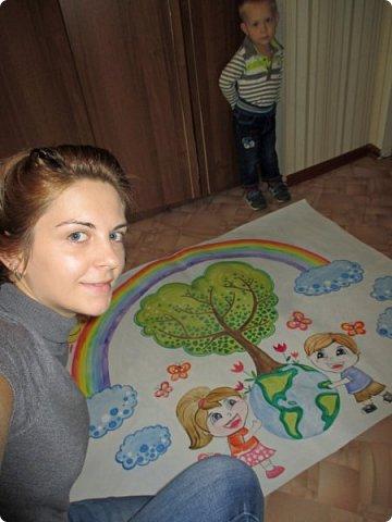 """Плакат к акции """"Наш лес. Посади свое дерево"""" в г.Электрогорск. Гуашь. 2 формата А1. фото 6"""