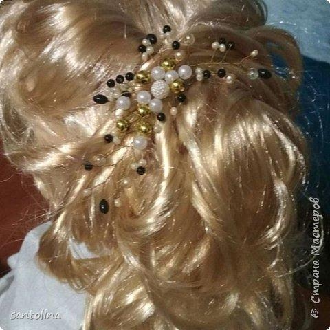 Еще немного моих работ))Украшения для волос- веточки в прическу. Веточка в прическу с золотыми бусинками, уехала к невесте)) фото 14