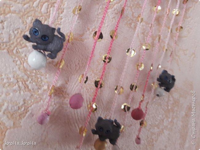 Продолжение темы с ловцами снов) сделала один, дочь заказала для себя еще..розовый! фото 7