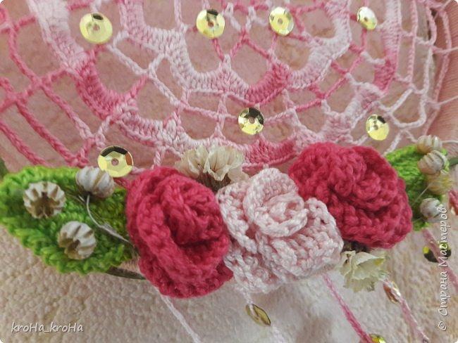 Продолжение темы с ловцами снов) сделала один, дочь заказала для себя еще..розовый! фото 6