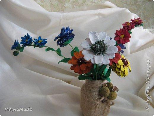 Доброго времени суток всем жителям Страны Мастеров! Представляю нашу осеннюю поделку в д/сад из природного материала - цветы из шишек и ваза для них. Без ложной скромности скажу, по-моему, получилось неплохо! А вот фотографии получаться не очень хотят, вот, что имеем, так сказать. фото 3