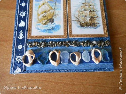Давно хотела сделать открытки на морскую тему. Получились три такие работы. фото 3