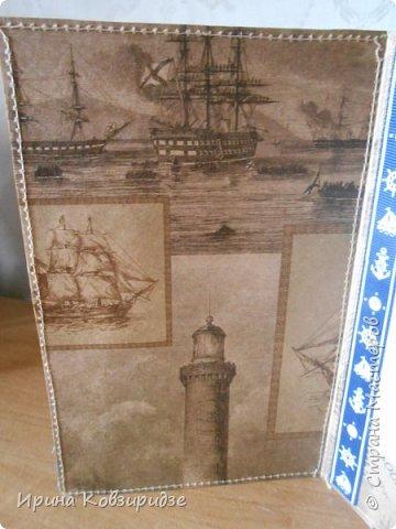 Давно хотела сделать открытки на морскую тему. Получились три такие работы. фото 7