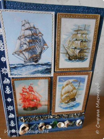 Давно хотела сделать открытки на морскую тему. Получились три такие работы. фото 8