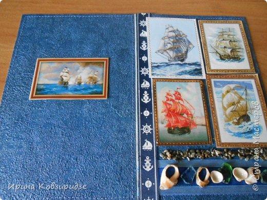 Давно хотела сделать открытки на морскую тему. Получились три такие работы. фото 9