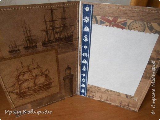 Давно хотела сделать открытки на морскую тему. Получились три такие работы. фото 11