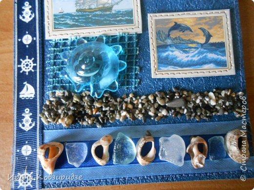 Давно хотела сделать открытки на морскую тему. Получились три такие работы. фото 15