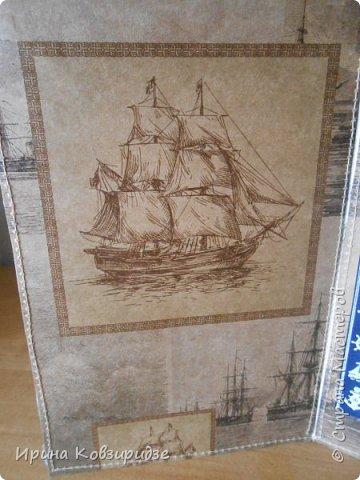 Давно хотела сделать открытки на морскую тему. Получились три такие работы. фото 19