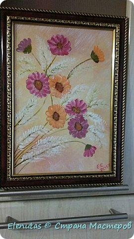 Добрый день,Страна! Посмотрела МК З.Голубевой и захотелось написать такую картину. Конечно до оригинала далеко...но Ван Гог тоже писал в своей манере))) Несмотря ни на что, картина понравилась соседке (для которой она и была написана).