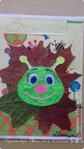 """Сегодня на уроке  трудового обучения  с ребятами 3 """"А"""" класса  работали  с осенними листьями по теме """" Осень в лесу""""   У всех ребят получились вот такие красивые работы!!! фото 15"""