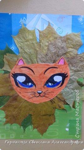 """Сегодня на уроке  трудового обучения  с ребятами 3 """"А"""" класса  работали  с осенними листьями по теме """" Осень в лесу""""   У всех ребят получились вот такие красивые работы!!! фото 20"""