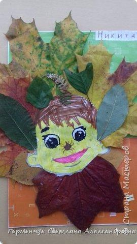 """Сегодня на уроке  трудового обучения  с ребятами 3 """"А"""" класса  работали  с осенними листьями по теме """" Осень в лесу""""   У всех ребят получились вот такие красивые работы!!! фото 24"""
