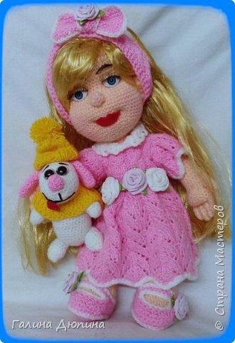 Люся маленькая добрая девочка и ее собачка Дуся.Размер куколки 45 см,руки-ноги все подвижное,одежда и обуви снимается. фото 1