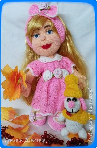 Люся маленькая добрая девочка и ее собачка Дуся.Размер куколки 45 см,руки-ноги все подвижное,одежда и обуви снимается. фото 2