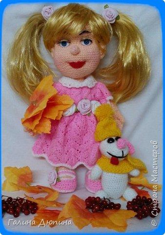 Люся маленькая добрая девочка и ее собачка Дуся.Размер куколки 45 см,руки-ноги все подвижное,одежда и обуви снимается. фото 4