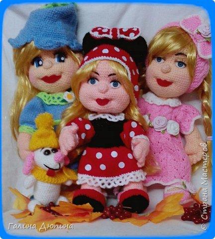 Люся маленькая добрая девочка и ее собачка Дуся.Размер куколки 45 см,руки-ноги все подвижное,одежда и обуви снимается. фото 8