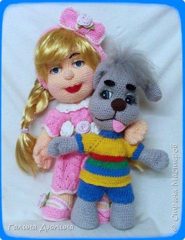 Люся маленькая добрая девочка и ее собачка Дуся.Размер куколки 45 см,руки-ноги все подвижное,одежда и обуви снимается. фото 9