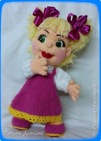 Куколка Маша-добрая,жизнерадостная девочка.Ростик Маши 45 см.Руки,ноги все подвижное,поэтому она может принимать различные положения тела.Вся одежда снимается. фото 2
