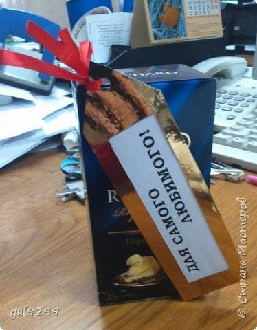 Вдохновившись идеями мастериц СМ делала на подарок любимому чай с комплиментами. фото 7