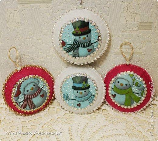 И снова мое любимое, елочные игрушки из фетра. фото 1