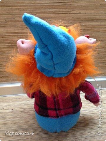 Здравствуйте,мастера и мастерицы! Это рыженький Гномик с божьей коровкой в руке. Рост Гномика 24 см. фото 5
