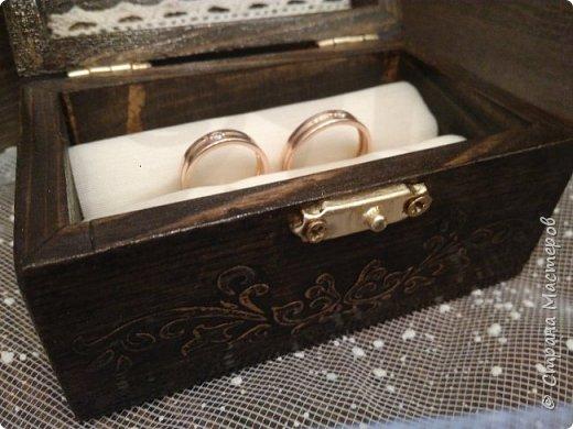 Три последние. Изначально лавандовая делалась под заказ, но невеста переиграла дизайн. В итоге шкатулка цвета венге поселилась у красавицы Настеньки, и ждёт своего часа. фото 4