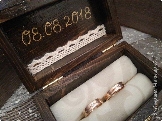 Три последние. Изначально лавандовая делалась под заказ, но невеста переиграла дизайн. В итоге шкатулка цвета венге поселилась у красавицы Настеньки, и ждёт своего часа. фото 3