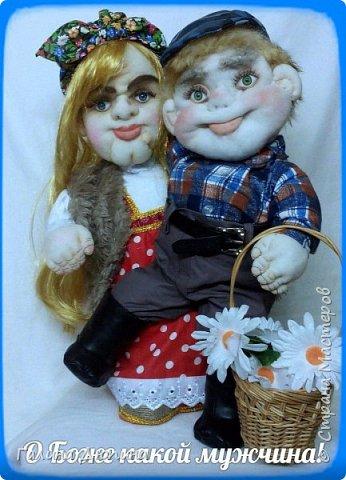 Люблю фантазировать и делать смешные фотографии с моими куклами.Моим куклам бывает весело и они тоже любят фотографироваться-позировать мне.Здесь представлены мои работы кукла-бар Бабушка Яга и каркасная кукла рыбак Федор.Размер куколок 60 см. фото 1