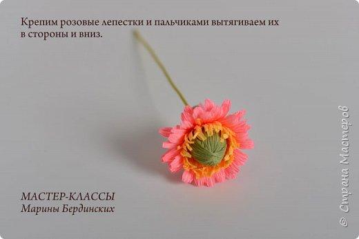Здравствуйте, дорогие мастерицы. Сегодня хочу рассказать и показать вам как сделать цветок бессмертник из гофрированной бумаги с конфеткой. фото 10