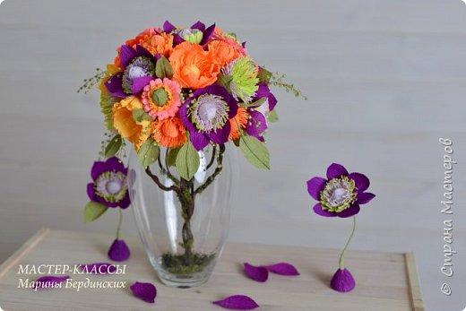 Здравствуйте, дорогие мастерицы. Сегодня хочу рассказать и показать вам как сделать цветок бессмертник из гофрированной бумаги с конфеткой. фото 13