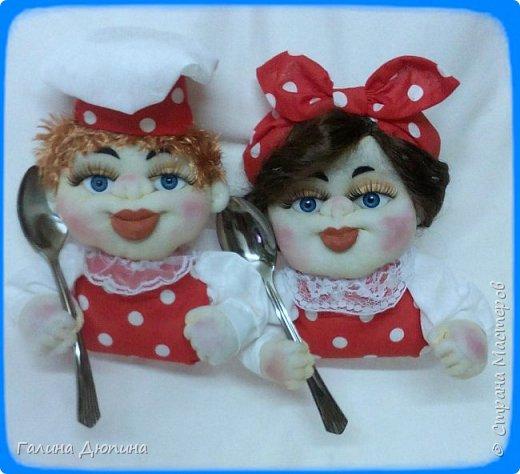 Не так давно начала шить кукол на кухонную тему.Очень нравится!Куколки служат для украшения нашей кухни,они будут нас радовать своим добрым,ласковым взглядом и дарить нам хорошее настроение.Данные поварята мальчик и девочка проживают в Улан-Удэ фото 7