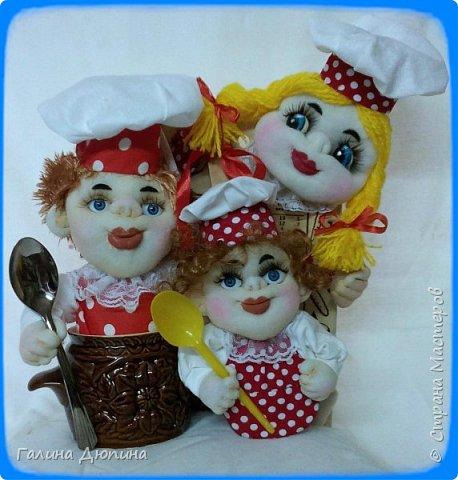 Не так давно начала шить кукол на кухонную тему.Очень нравится!Куколки служат для украшения нашей кухни,они будут нас радовать своим добрым,ласковым взглядом и дарить нам хорошее настроение.Данные поварята мальчик и девочка проживают в Улан-Удэ фото 6