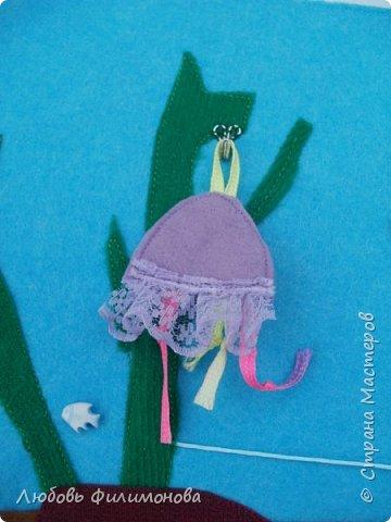 """Сшила для малышей из фетра игру """"Аквариум"""". Размеры самого аквариума 30/21. Первая сторона в собранном виде.  фото 4"""