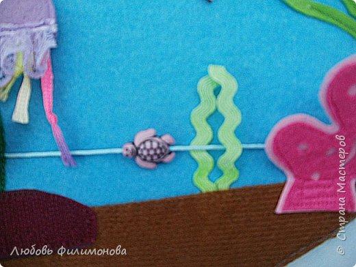 """Сшила для малышей из фетра игру """"Аквариум"""". Размеры самого аквариума 30/21. Первая сторона в собранном виде.  фото 5"""